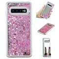 Liquid Glitter Series Samsung Galaxy S10 TPU Cover - Pink