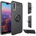 Huawei P20 Pro Cover med Magnetisk Ring - Sort