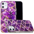 Marble Pattern Electroplated IMD iPhone 12 mini TPU Cover