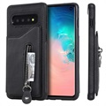 Samsung Galaxy S10 Multifunktionel TPU Cover med Stand - Sort