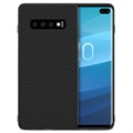 Nillkin Synthetic Karbonfiber Samsung Galaxy S10+ Cover - Sort