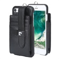 Pierre Cardin iPhone 7 / iPhone 8 Læder Cover - Sort