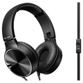 Pioneer SE-MJ722T-B Foldable Over-ear Headset - 3.5mm