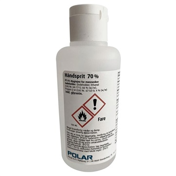 Polar Antibakteriel Håndrensende Gel - 70% Ethanol - 100ml