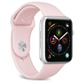 Puro Icon Apple Watch Series SE/6/5/4/3/2/1 Silikone Rem - 42mm, 44mm - Pink