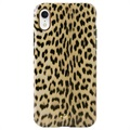 Puro Leopard Anti-Shock iPhone XR Cover - Sort / Leopard