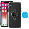 Puro Magnet Ring iPhone X Cover - Sort