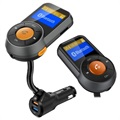 QC3.0 Billader og Bluetooth FM Transmitter BT76 - Sort