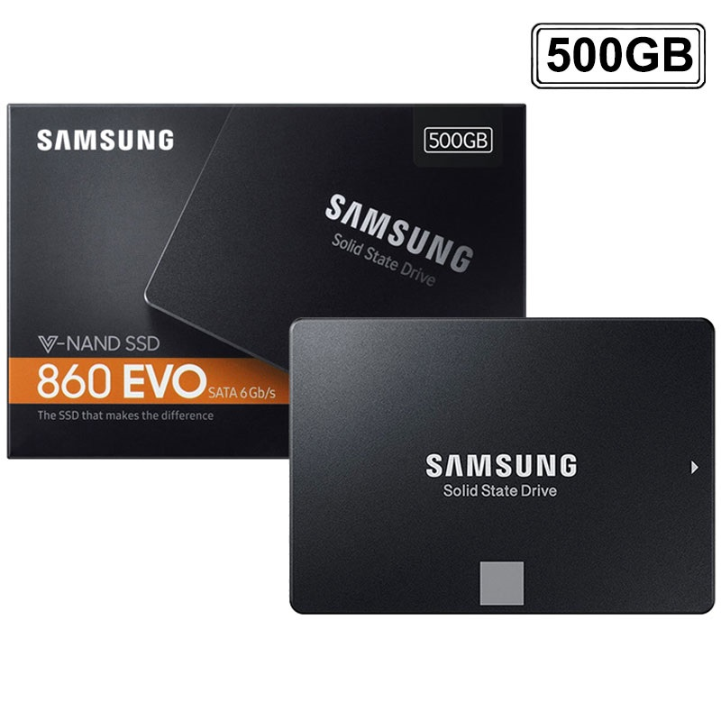 samsung 860 evo v nand ssd mz 76e500b 2 5 500gb. Black Bedroom Furniture Sets. Home Design Ideas