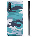 Samsung Galaxy A50 TPU Cover - Blå Camouflage
