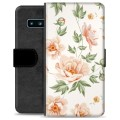 Samsung Galaxy S10 Premium Flip Cover med Pung - Floral