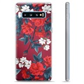 Samsung Galaxy S10+ TPU Cover - Vintage Blomster