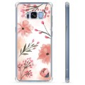Samsung Galaxy S8 Hybrid Cover - Lyserøde Blomster