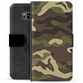 Samsung Galaxy S8 Premium Flip Cover med Pung - Camo