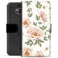 Samsung Galaxy S8+ Premium Flip Cover med Pung - Floral