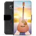 Samsung Galaxy S8 Premium Flip Cover med Pung - Guitar