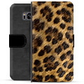 Samsung Galaxy S8 Premium Flip Cover med Pung - Leopard