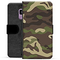 Samsung Galaxy S9 Premium Flip Cover med Pung - Camo