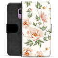 Samsung Galaxy S9 Premium Flip Cover med Pung - Floral