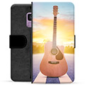 Samsung Galaxy S9 Premium Flip Cover med Pung - Guitar