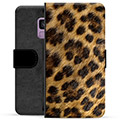 Samsung Galaxy S9 Premium Flip Cover med Pung - Leopard