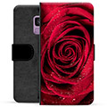 Samsung Galaxy S9 Premium Flip Cover med Pung - Rose