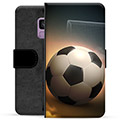 Samsung Galaxy S9 Premium Flip Cover med Pung - Fodbold