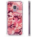 Samsung Galaxy S9 Hybrid Cover - Pink Camouflage