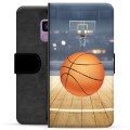 Samsung Galaxy S9 Premium Flip Cover med Pung - Basketball
