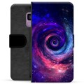 Samsung Galaxy S9 Premium Flip Cover med Pung - Galakse
