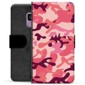 Samsung Galaxy S9 Premium Flip Cover med Pung - Pink Camouflage