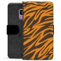 Samsung Galaxy S9 Premium Flip Cover med Pung - Tiger