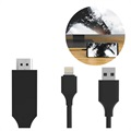 SiGN HDMI / Lightning Kabel til iPhone/iPad - 2m - Sort