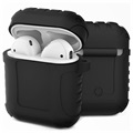 AirPods / AirPods 2 Silikone Cover - Shockproof Armor - Sort