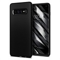 Spigen Liquid Air Samsung Galaxy S10 TPU Cover - Sort