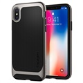 Spigen Neo Hybrid iPhone X Cover - Mørkegrå / Sort