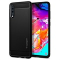 Spigen Rugged Armor Samsung Galaxy A70 TPU Cover - Mat Sort