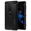 Spigen Rugged Armor Sony Xperia XZ2 Premium Cover - Sort