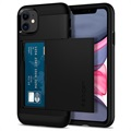 Spigen Slim Armor CS iPhone 11 Cover - Sort