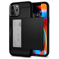 Spigen Slim Armor CS iPhone 12/12 Pro Cover - Sort