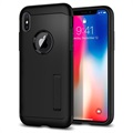 Spigen Slim Armor iPhone X Cover - Sort