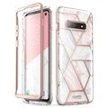 Supcase Cosmo Samsung Galaxy S10 Hybrid Cover - Pink Marmor