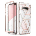 Supcase Cosmo Samsung Galaxy S10+ Hybrid Cover - Pink Marmor