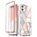Supcase Cosmo iPhone 11 Hybrid Cover - Pink Marmor