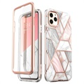 Supcase Cosmo iPhone 11 Pro Hybrid Cover - Pink Marmor
