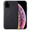 Ultratyndt iPhone 11 Pro Max TPU Cover - Karbonfiber - Sort