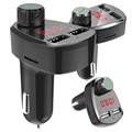 Universal Billader og Bluetooth FM Transmitter G13 - Sort