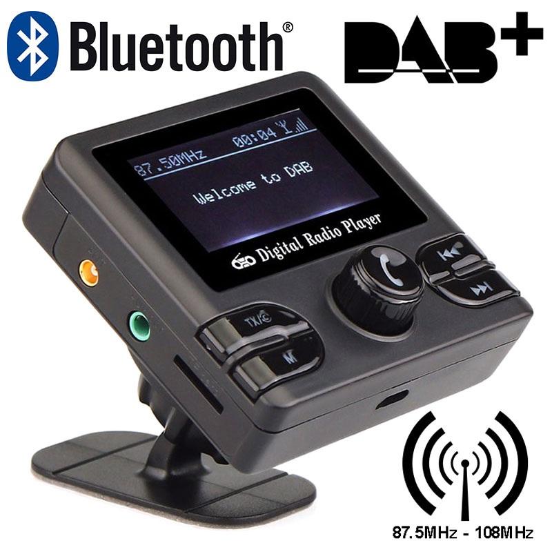universal dab dab radio receiver bluetooth fm sender. Black Bedroom Furniture Sets. Home Design Ideas