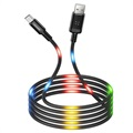 Usams US-SJ288 Dancing LED USB 2.0 / MicroUSB Kabel - 1m - Sort