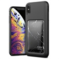VRS Damda High Pro Shield iPhone XS Max Cover - Sort / Marmor